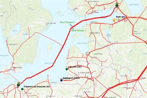 Nord Stream 2 Map
