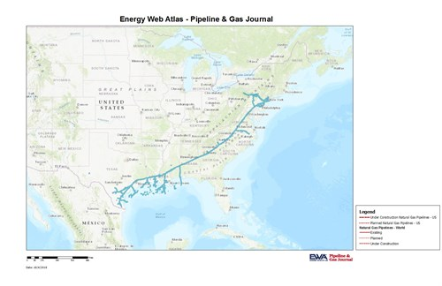 WB XPress Natural Gas Pipeline Project Into Service In West Virginia.